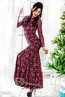 """Гипюровое платье """"рыбка"""" Gepur 14579"""