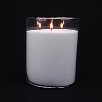 Насыпная свеча на 3 фитиля белая, h 20 см, Ø 16 см, из пальмового воска