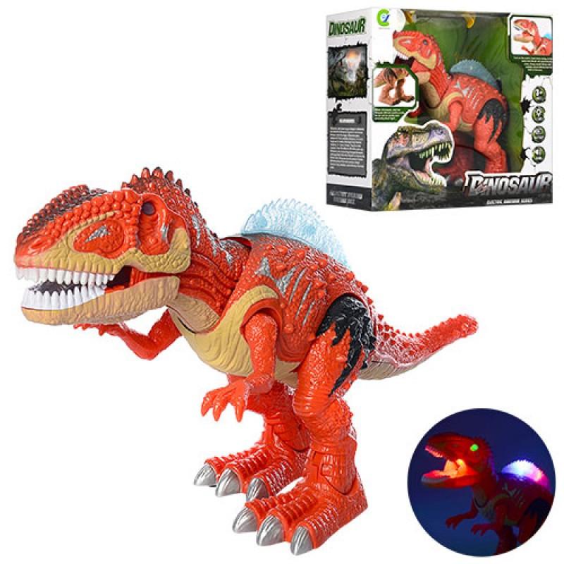 Динозавр Тиранозавр ходит, подвижные части, звуковые и световые эффекты Y333-02, Животные динозавр