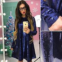 Платье паетка свободного кроя АМС-1712.113(1), фото 1