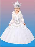 СНЕЖНАЯ КОРОЛЕВА карнавальный детский костюм