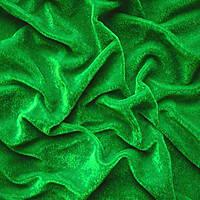 Велюр стрейч тонкий зеленый, фото 1