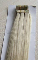 Натуральные волосы для ленточного наращивания 52 см. Оттенок №60.