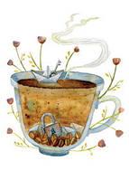"""Открытка """"Секретный кофеек"""", фото 1"""