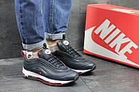 Кроссовки Nike 97 женские (темно-синие с красным), ТОП-реплика, фото 1