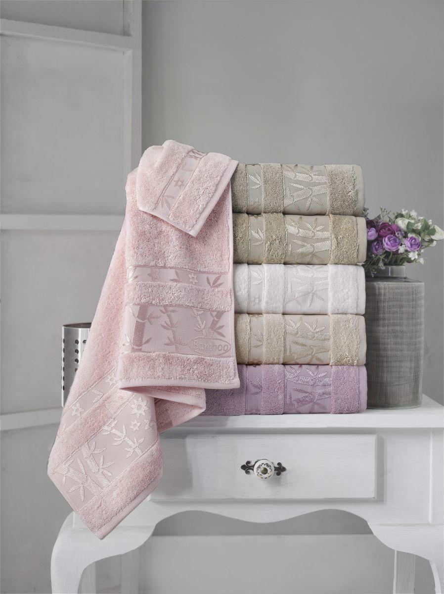 Бамбуковые полотенца Pupilla 50x90 (6-шт) № Elit-Premium