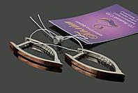 Серьги серебро с золотом в коробочке