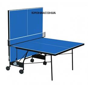 Теннисный стол Gk-6 для закрытых помещений, ракетки и мячики в подарок!, фото 2