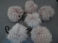 Помпоны-мех, балабон, бубон кофейный 7-9см кролик