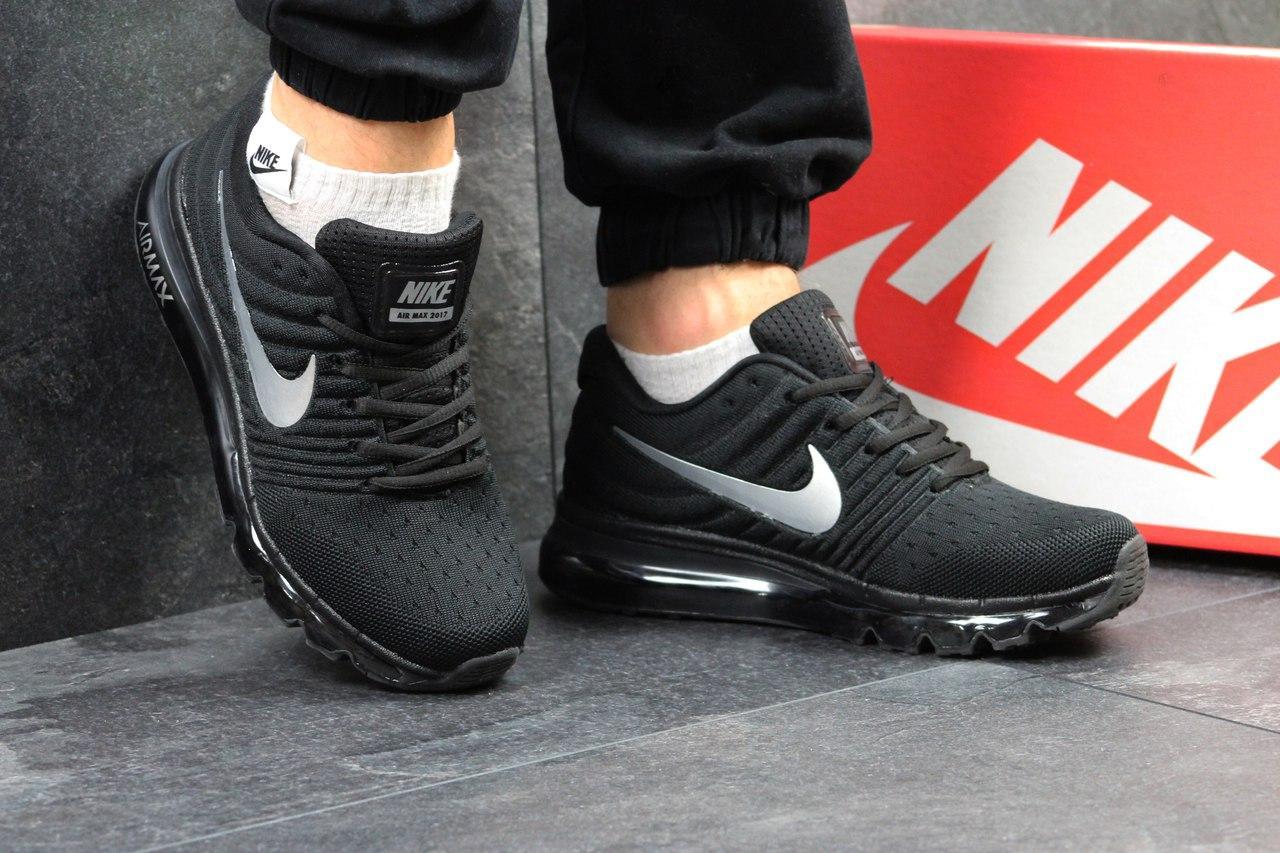 Кроссовки  Nike Air Max 2017 мужские (черные), ТОП-реплика