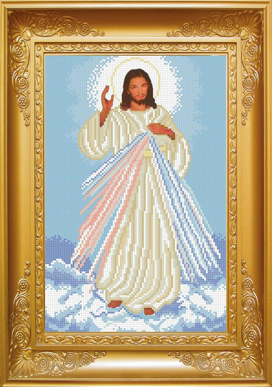 КРМ-21. Схема для вишивки бісером Ісусе, уповаю на Тебе .