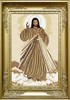 КРМ-46. Схема для вишивки бісером Ісусе, уповаю на Тебе (сепія)