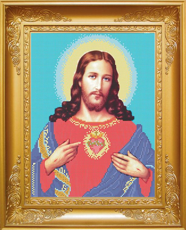 КРМ-7. Схема для вишивки бісером Ісус Христос .