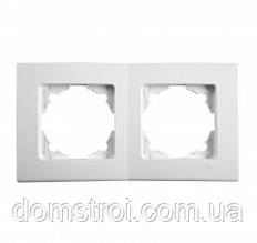 Двойная горизонтальная рамка VIKO Linnera белый