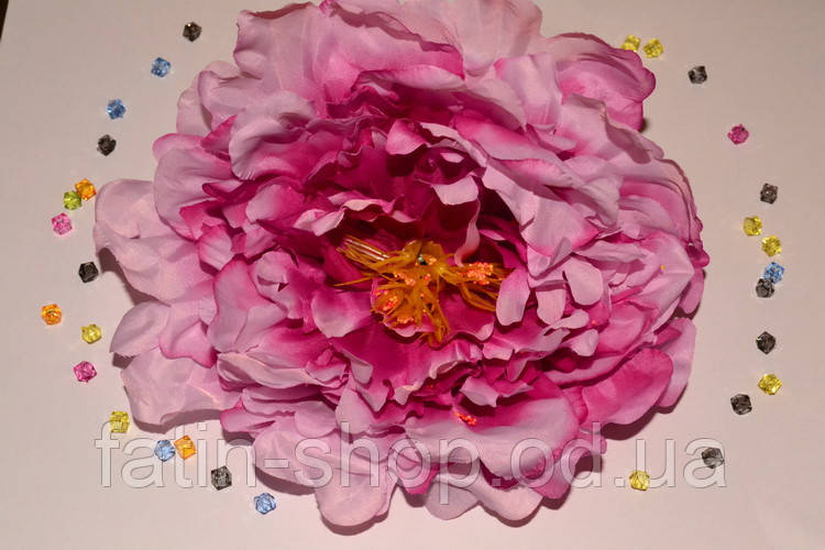 Искусственная головка пиона цв.фиолетово-розовый
