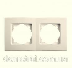 Рамка подвійна горизонтальна VIKO Linnera крем