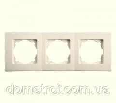 Потрійна горизонтальна рамка VIKO Linnera крем