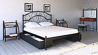 """Металлическая двуспальная  кровать с ящиками """"Скарлет"""" Металл-Дизайн"""