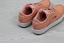 Женские кроссовки Reebok Workout Classica,персиковые, фото 3