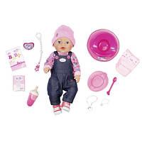 Детская кукла BABY BORN - джинсовый стиль (43 см, с аксессуарами)