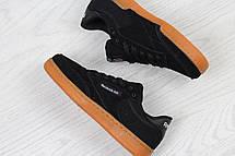 Женские кроссовки Reebok Workout Classica,замшевые,черные, фото 3