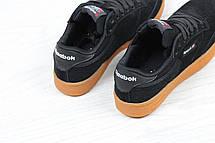 Женские кроссовки Reebok Workout Classica,замшевые,черные, фото 2