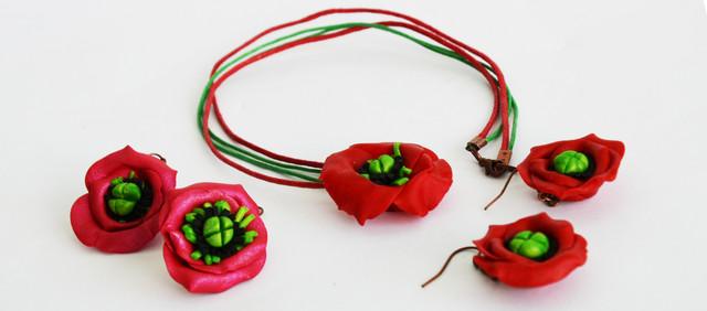 керамические украшения в украинском стиле