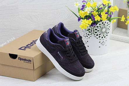 Кроссовки Reebok Workout Classica,замшевые,фиолетовые, фото 2