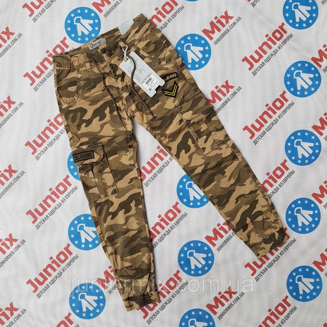 Оптом подростковые  котоновые камуфляжные брюки на манжете для мальчиков оптом GRACE