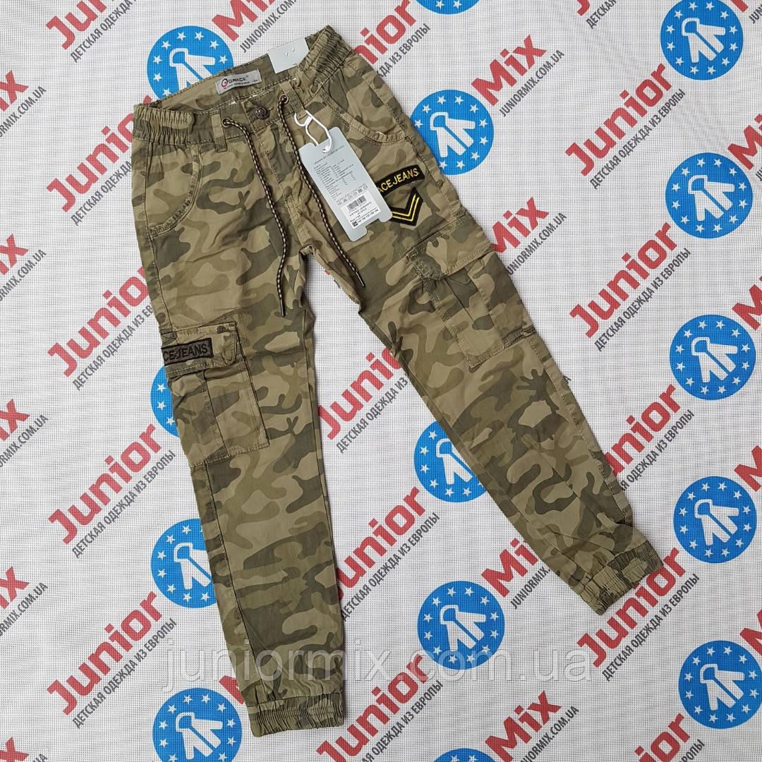 Камуфляжные котоновые брюки для мальчиков подростков оптом GRACE