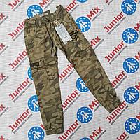 Камуфляжные котоновые брюки для мальчиков подростков оптом GRACE, фото 1