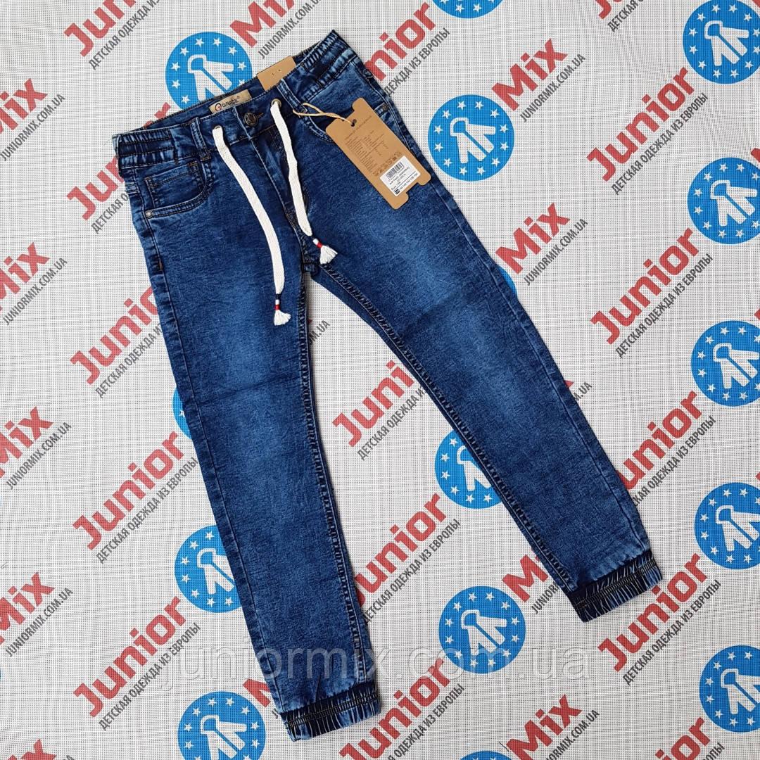 Подростковые джинсы для мальчиков на манжете оптом GRACE