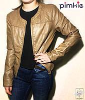 Куртка Pimkie кожзам р. S 42-44 коричневая без капюшона женская весенняя демисезонная