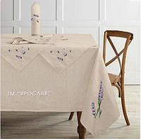 Скатерть лен + 8 сервировочных салфеток 150x225