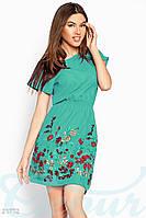 Короткое платье вышивка Gepur 21772