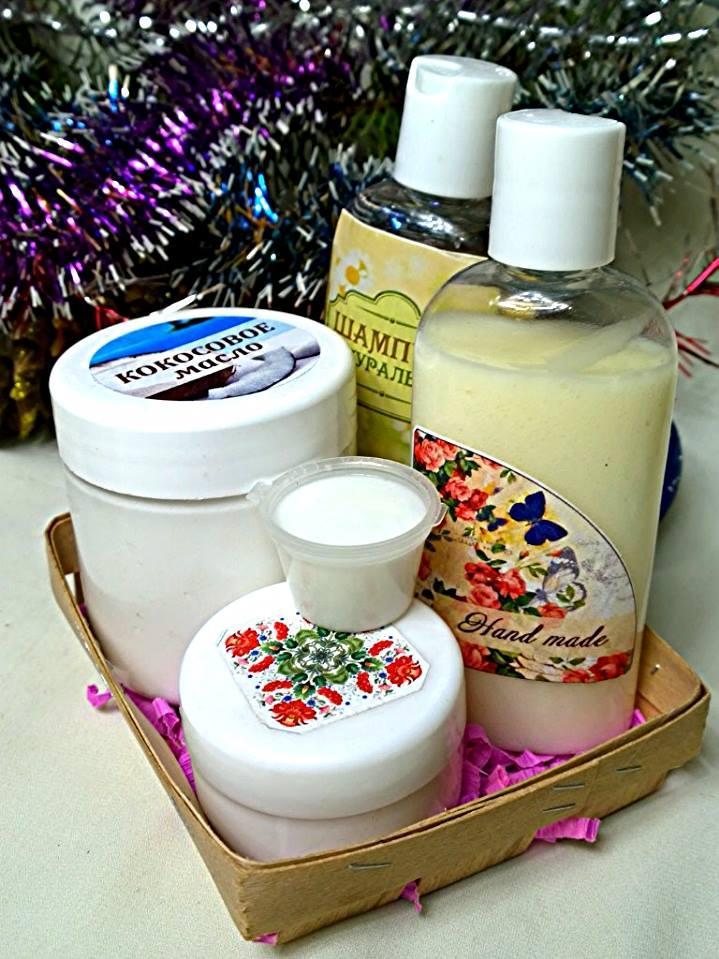 Набор косметики ручной работы (маска для волос,бальзам-кондиционер,детский шампунь,ночной крем)