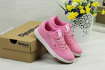 Кроссовки Reebok Workout Classica,замшевые,розовые, фото 2