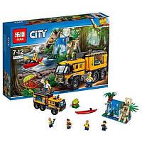 """Конструктор Lepin 02062 """"Передвижная лаборатория в джунглях""""- аналог Lego City 60160, , 460 дет"""