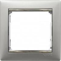 Рамка 1 пост Legrand Valena 770351 алюминий / серебро