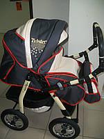 Коляска Tvister Comfort (серый+бежевый+оранжевые вставки), фото 1