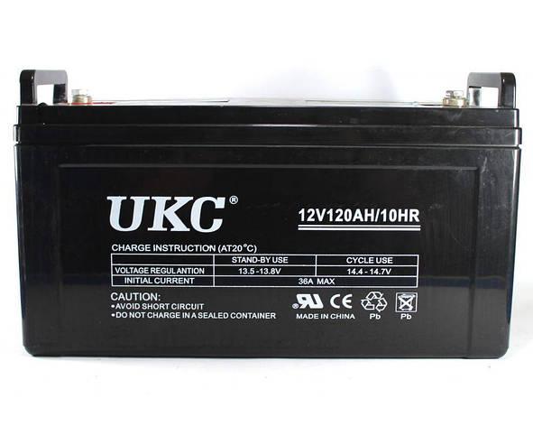 Аккумулятор BATTERY GEL 12V 120A UKC, фото 2