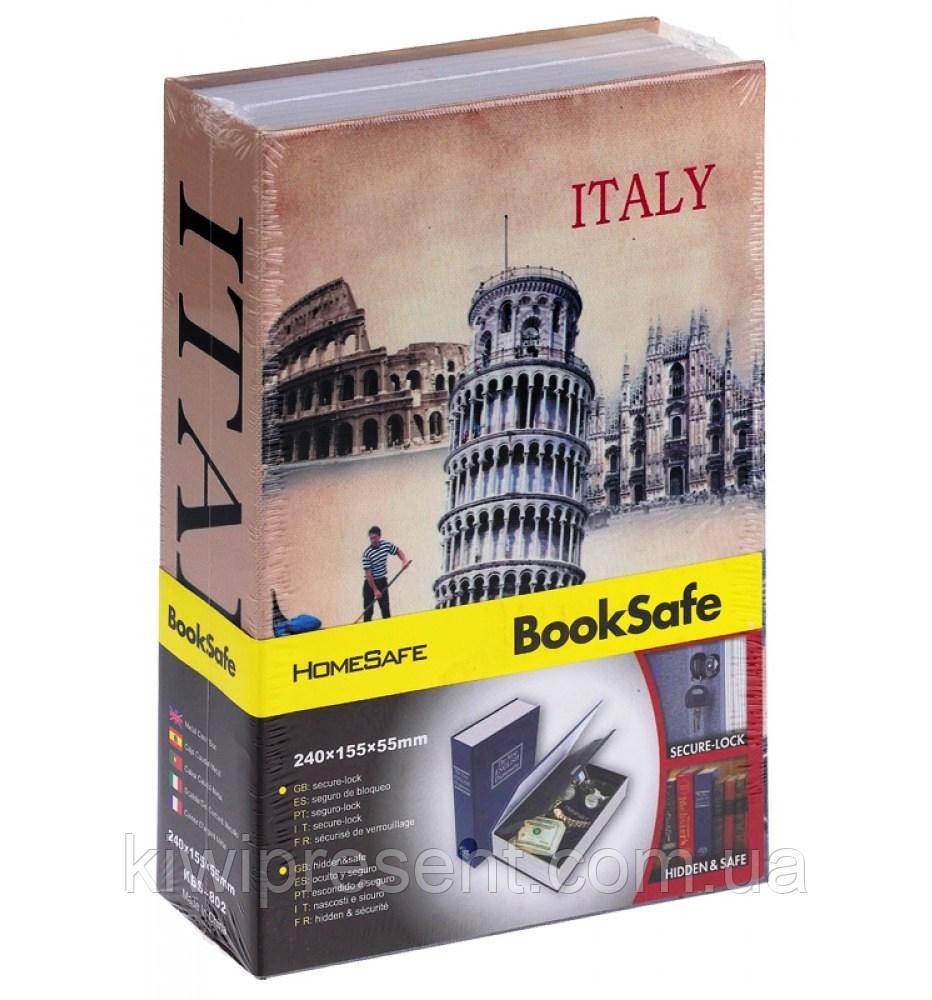 Книга сейф Италия / Лондон 18 см