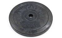 Блины (диски) обрезиненные d-30мм 20кг (металл, резина, черный), фото 1