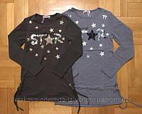 Трикотажные нарядные туники для девочек на микроначесе в Новогодние звезды 134,140,146,152,158р.