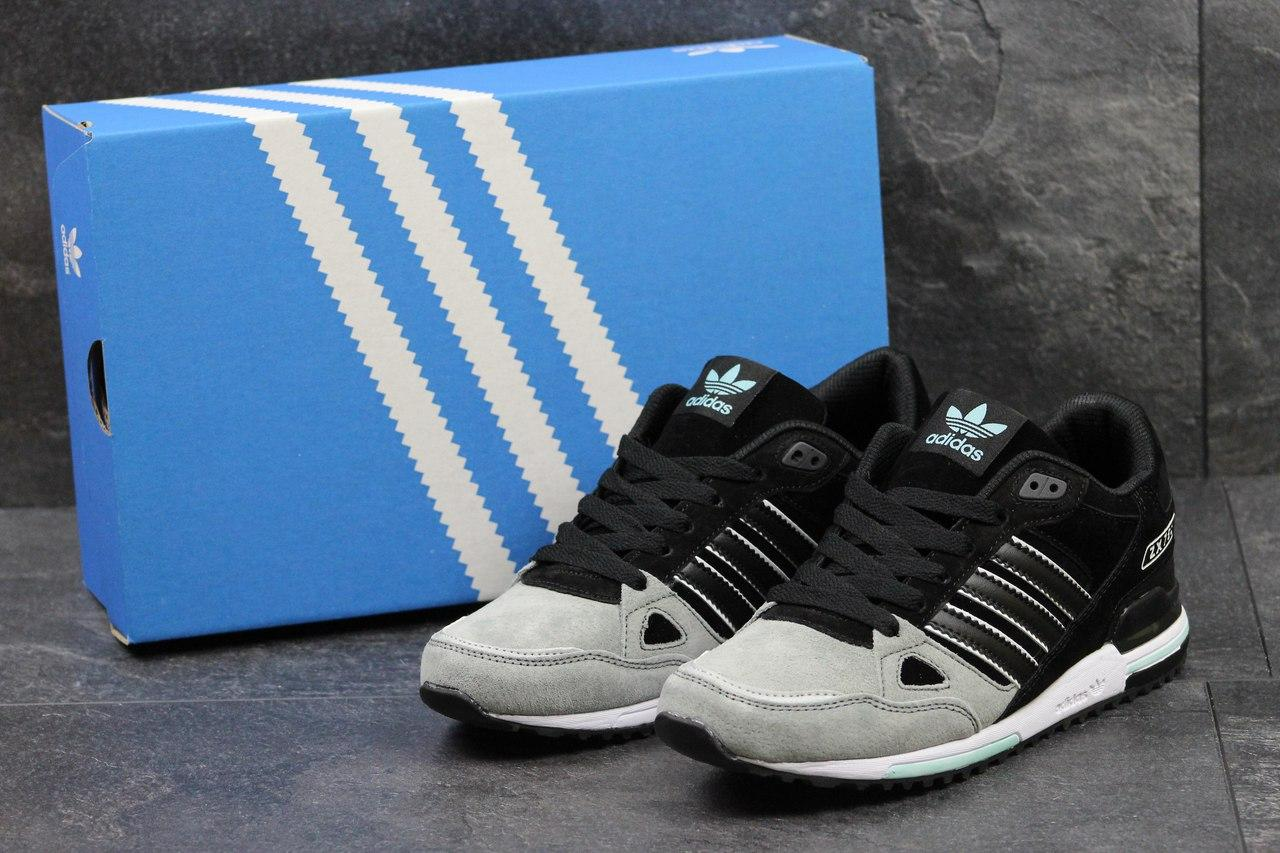 Кроссовки Adidas ZX 750 мужские (бежевые с черным), ТОП-реплика