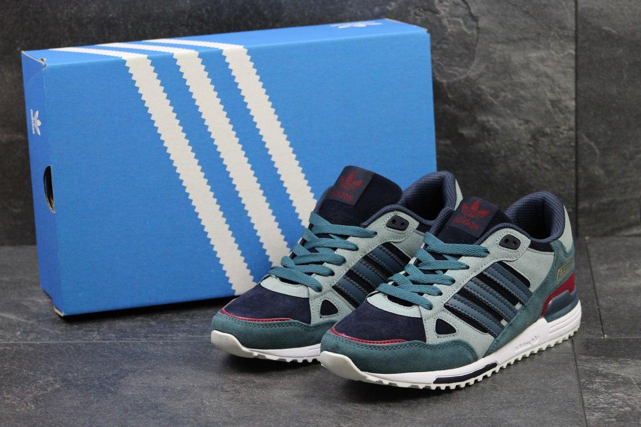 Кроссовки Adidas ZX 750 мужские (серые), ТОП-реплика