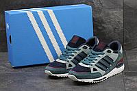 Кроссовки Adidas ZX 750 мужские (серые), ТОП-реплика, фото 1