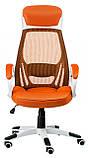 Кресло офисное Briz orangе/whitе, фото 2