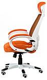 Кресло офисное Briz orangе/whitе, фото 3
