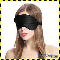 Шёлковые маски для сна ОПТом (маска из шелка), black. Min заказ 100 штук.